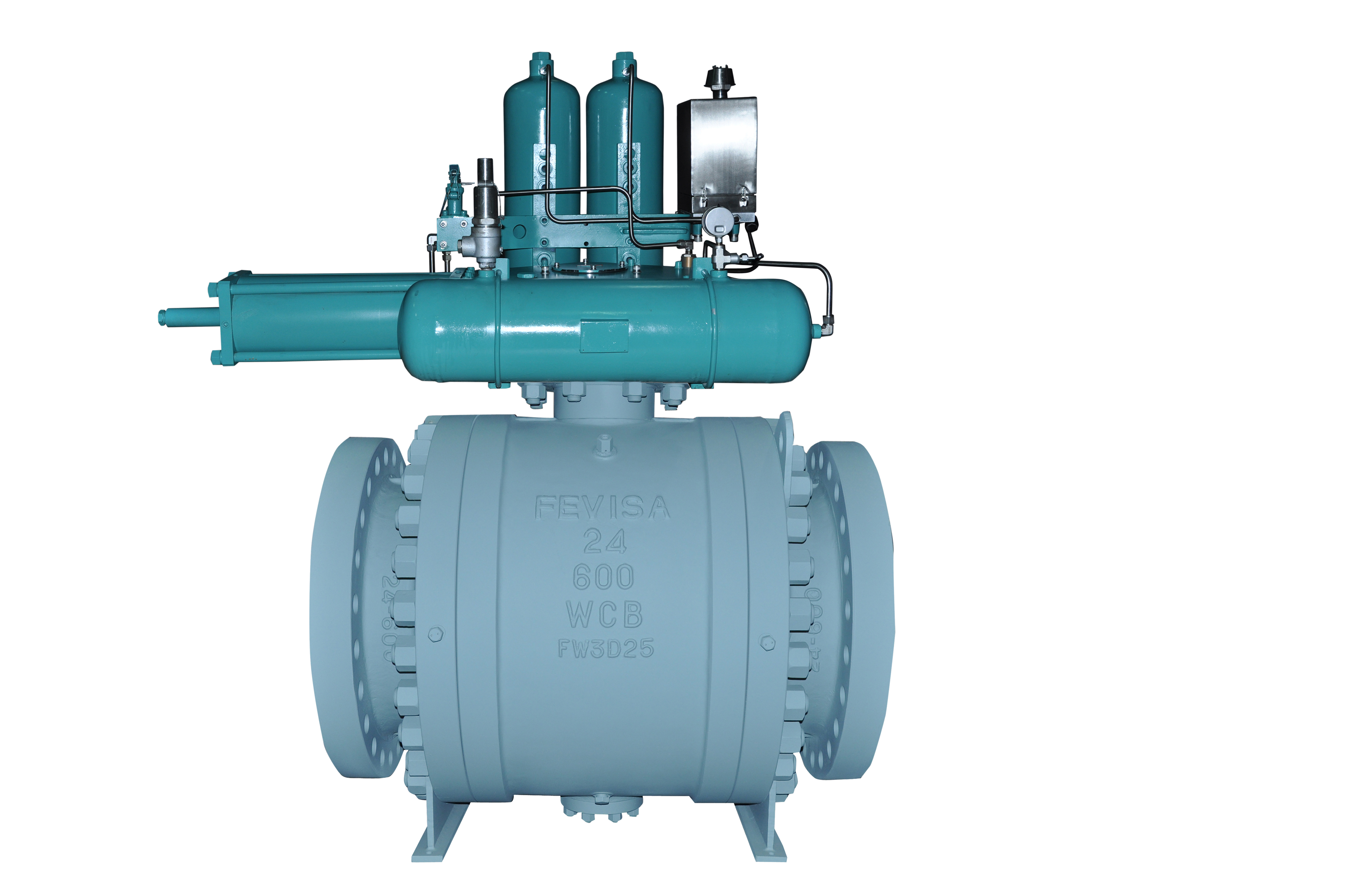 Gas Over Oil Actuated Ball Valves