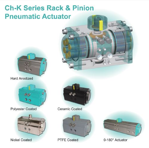 Rack & Pinion Pneumatic Actuators